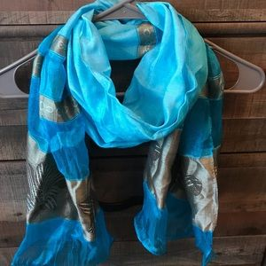 Blue/Gold Think Scarf